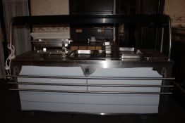 A large stainless steel electrical hot f
