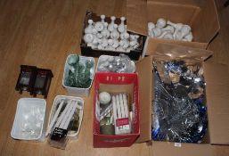 A quantity of foil Christmas garland dec