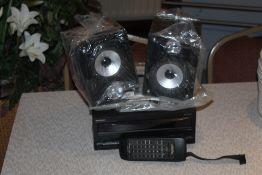 A Technics stereo cassette deck, model R