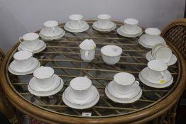 A Minton Gold Monarch pattern tea set, 3