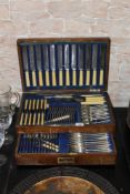 A silver plated Old English pattern cutlery service for 12 place settings,