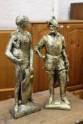 Two gilt figurines of soldiers,