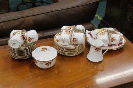 Early 20th century 38 piece tea set
