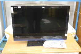 Sharp flat screen television set with 31