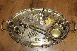 A Birks American silver tea spoon, with