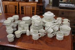 Large collection of Royal Doulton Willow The Wisp pattern tea and dinnerware, tureens,