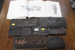 8 printers blocks, ships, carriages,