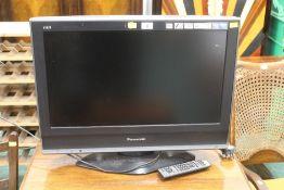 A Panasonic flat screen television set w