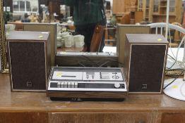 An Hitachi stereo radio cassette SD-3410