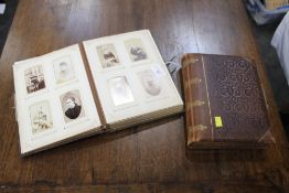Two Victorian photograph albums, one empty,