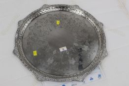 A Mappin & Webb 19th century silver plat
