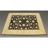 """A Pakistan hand woven """"Garous Super"""" fringed carpet,"""