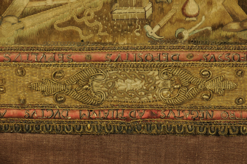 An important 16th century stump work bible cover, reputedly once in the possession of Mary Stuart, - Image 11 of 15