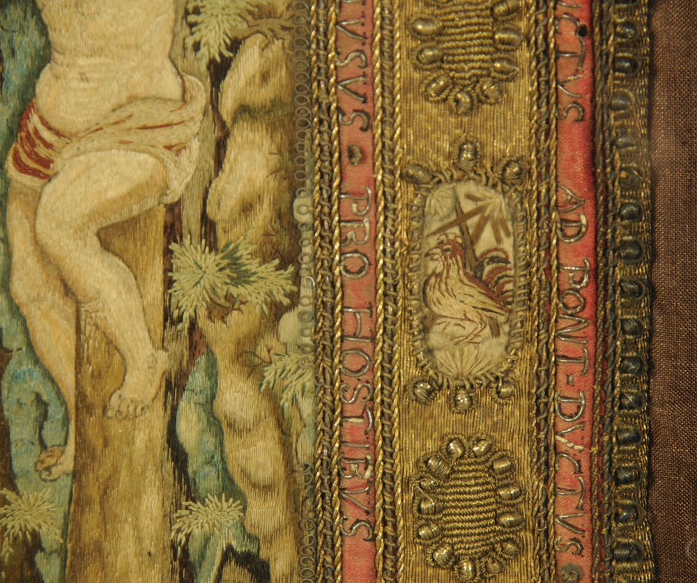An important 16th century stump work bible cover, reputedly once in the possession of Mary Stuart, - Image 9 of 15