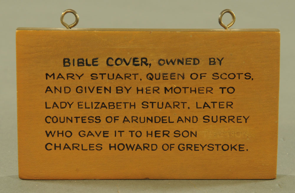An important 16th century stump work bible cover, reputedly once in the possession of Mary Stuart, - Image 13 of 15