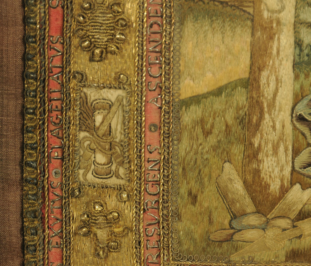 An important 16th century stump work bible cover, reputedly once in the possession of Mary Stuart, - Image 7 of 15