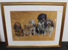 "A 20th century acrylic painting - ""A shaggy dog story"","