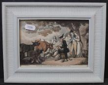 Thomas Rowlandson (1757-1827), two coloured etchings,