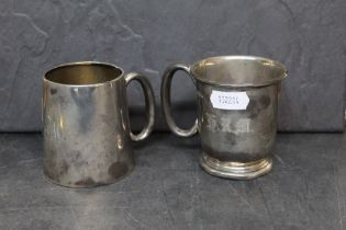 A George VI silver christening tankard by Viners, 7.