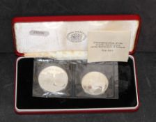 """Two Royal mint proof silver coins """"Commemoration of the 11 hundredth anniversary of the settlement"""