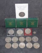 Three Festival of Britain 1951 crowns, all boxed,
