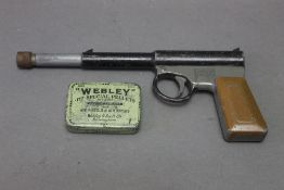 An early Gat air pistol, cal 177, marked to the left hand side Made in England T.J.H.