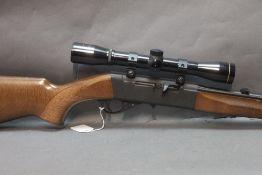 """Anschutz Model 520 Cal 22LR semiautomatic rifle, 22 1/2"""" screw cut barrel. Serial No. 121005."""