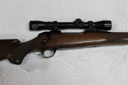 BSA cal 30-06 bolt action rifle, fitted with a Pecar Berlin 4 x 35 telescopic sight. Serial No.