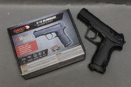 A Gamo C15 blow back semi automatic CO2 air pistol, cal 177. Serial No. 16A02268.