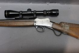 A BSA Martini action cal 22 LR rifle,