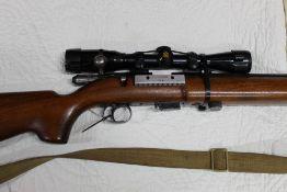 BSA Century cal 22 LR bolt action rifle,