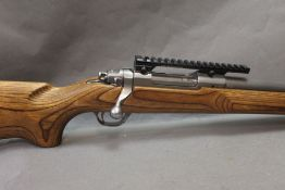 A Ruger M77 Mk II cal 204 Ruger bolt action stainless steel rifle,