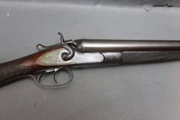"""Watson and Hancock a 12 bore side by side hammer shotgun, with 28 3/4"""" Damascus barrels,"""