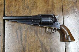 "Navy Arms Company cal 36 black powder revolver, 6 1/4"" barrel. Serial No. 3450."