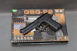 GSG 92 Cal 177 BB air pistol, with box, instructions etc. Serial No. W01090729283.