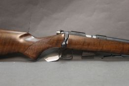 CZ 452 American 17HMR bolt action rifle, fitted with a bull barrel and sound moderator.
