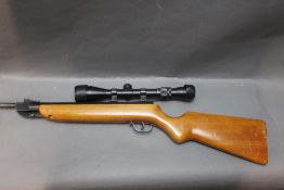 Haenel model 303 cal 22 break barrel air rifle, fitted with an Apollo 3-9 x 40 telescopic sight.