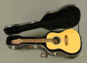 A Stagg 12 string electro-acoustic guitar, Model No.