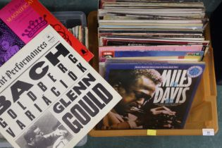 Two boxes of mixed records,
