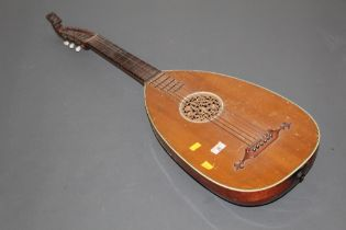 A mid 19th century German Lute guitar by Rosetti,