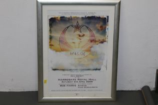 A Wally Mammoth Productions signed Paul Gerrett Memorial concert poster,
