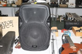 A CAMRZ 15AV3 full range active speaker, 67 cm high,