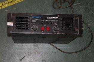 A Harrison Information Technology Ltd X1600 MOS-FET 2 channel power amplifier, 48 cm wide.