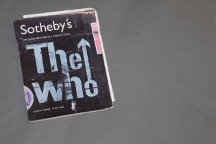 The Who interest - a copy of The John Entwistle Collection catalogue, sold at Sotheby's Olympia,