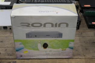 A Ronin DVD player, as new boxed with remote.