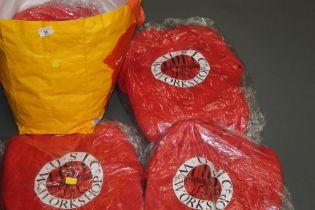 "Twenty five new and unopened red sweat shirts, each bearing logo ""Music Workshop"","