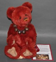 "A soft plush ""Rusty"" Charlie Bear, CB0104582, having rusty fur covered body,"
