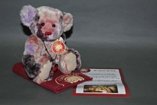 """A soft plush """"Ragsy"""" Charlie Bear, CB604748C, having embroidered facial details, sculpted paws,"""
