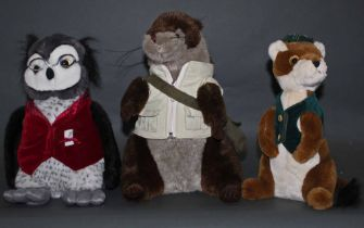 A group of three Dora designs animal inspired door stops, comprising Oscar the Otter,