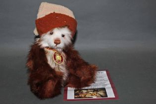 """A soft plush """"Nutmeg"""" Charlie Bear, CB621329, having embroidered facial details, sculpted paws,"""